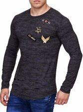 Langarm Herren-T-Shirts mit tiefem V-Ausschnitt in Größe M