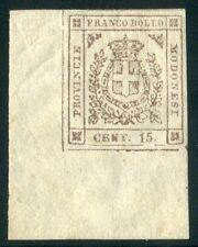 1859 ASI Modena Governo Provvisorio 15 cent. nuovo spl angolo