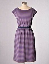 $78 BODEN SOFT STRETCH COTTON JERSEY PURPLE / BROWN NEWQUAY DRESS WH515 - US 16L