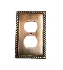 Rope Outlet Switch Plate Cover Antique Copper Finish