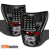 Fits Black 07-13 Toyota Tundra Full LED Tail Lights Lamps Left+Right Pair Sets