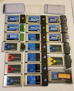 16x Lot Linksys Wireless Network Adapter PCMCIA PC Card CardBus WPC11 v4 G SRX