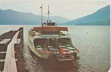 M.V. Anscomb Car Ferry at Kootenay Bay British Columbia Canada Postcard 1950s