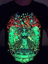Underground Men's Tshirt Glow in UV-Blacklight Psy Techno Rave Trance Club EDM
