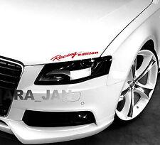 Racing edition Decal Sticker Headlight Taillight Eyebrow sport car racing RED