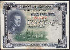 1925 100 Pesetas Spain Vintage Old Paper Money Spanish Banknote Currency Note F