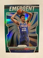 2019-20 Panini Prizm Emergent Matisse Thybulle Green Prizm SP Rookie Card #18