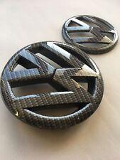 Carbon Fiber Fibre VW Logo Golf MK6 Front + Rear Badge Emblem TDI GTI GTD TSI R