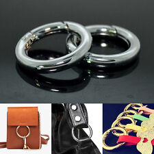 Snap Clip Trigger Spring Bag Gate Round Ring Keyring Buckle Craft Accessories