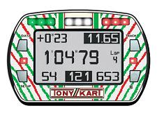 Tonykart Style Gel Autocollant Pour Alfano PRO III EVO lap timer-Karting