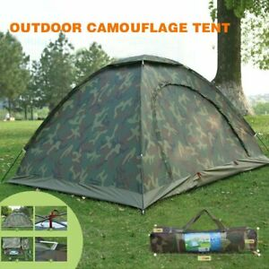 Fishing / Camping 2 Man Waterproof Two Person Dome Tent Camo - Camouflage UK