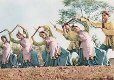1964 RARE Bamboo-flute Dance Vietnam Women old Vietnamese postcard