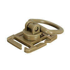 Tactical Molle ROTARY 360 DEGREE D-RING / CLIP x1 PIECE - TAN - ROTATION - NEW