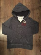 XL ABERCROMBIE KIDS NAVY/WHITE SPECKLE HOODIE XMAS/WINTER/CASUAL/SPORT/FOOTBALL