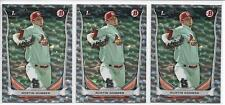 2014 Bowman Draft Austin Gomber (3) Card Silver Ice Parallel Lot Cardinals FY RC