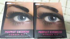 2 Beauty Treats Perfect Eyebrow Powder Kit 4 powders, 3 stencils & 1 brush appl.