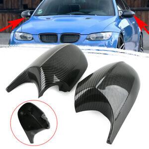 Carbon Fiber Mirror Cover Cap Fit BMW E90-E93 Pre-LCI 323i/325i/328i Accessories