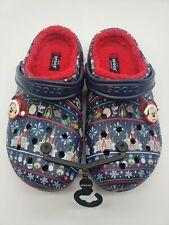 Disney Parks 2020 Crocs Mickey Mouse Christmas Holiday Light Up Fleece Clogs