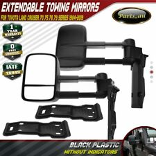 2x Manual Extendable Towing Mirrors for Toyota Land Cruiser 70 75 78 79 Series