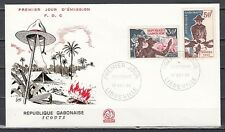 Gabon, Scott cat. 200-201. Scouting issue on a First day cover