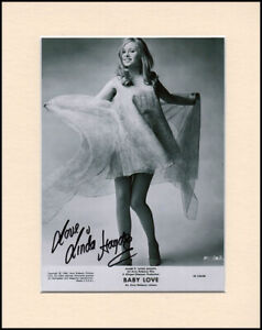 Linda Hayden Hammer Horror Original Signed Mounted 10x8 Autograph Photo & COA
