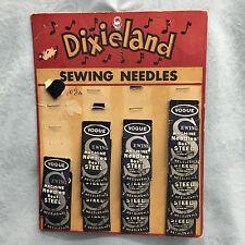 Rare ~Vtg. ~Dixieland ~Sewing Machine Needles~Display Card~Free Shipping