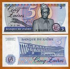 Zaire, 5 Zaires, 24-11-1985, P-26A, UNC --> Mobutu