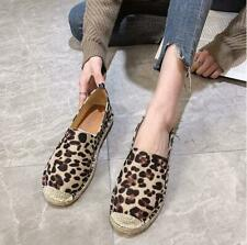 Leopard Women's Espadrille Flats Loafers Moccasins Oxfords Casual Comfort Shoes