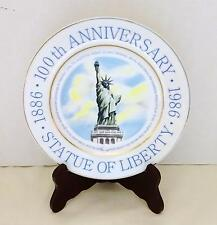 "COLLECTIBLE Statute of Liberty 100th Anniversary 1886-1986 Decorative 9"" Plate"