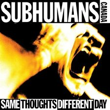 The Subhumans, Subhu - Same Thoughts Different Day [New CD]