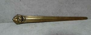 Vintage / Antique  Brass Laughing Buddha  Face Letter Opener 11inches Tall