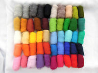 Sheep Wool Fiber for Needle Felting, 50 colors 150 gr / 5.3 ounces