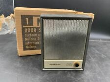Vintage NuTone N-412 Door Speaker with talk button surf mnt brown/brass