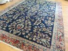 8x11  9x12 Antique Mahal wool hand-knotted Oriental Area Rug Navy Rust