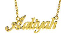 18K Gold Plated Necklace With Name AALIYAH - Christmas Personalised Gift For Her