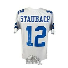 Roger Staubach Autographed Dallas Cowboys Custom Football Jersey - BAS COA