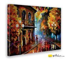 Quadro - Leonid Afremov – Fall rain - Stampa fine art – Pronto da appendere