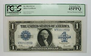 1923 $1 Large Size Silver Certificate Note Currency Banknote PCGS EF45 PPQ