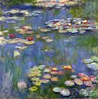 Water Lilies by Claude Monet, Giclee Canvas Print, in various sizes