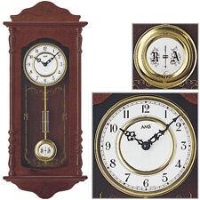 AMS 7013/1 Orologio pendolo parete quarzo, struttura in legno color noce