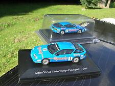 ELIGOR 1/43 RENAULT ALPINE V6 GT TURBO 1985 N°1 EUROPA CUP SPEEDY  !!
