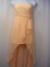 Women Dress Prom Bridesmaid Formal Size 3XL ASPEED Jeweled Brooch Peach Straples