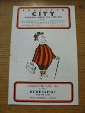 30/04/1966 Bradford City v Aldershot  (Rusty Staple/Mark). Item In very good con