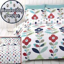 Lulu Floral Set Housse de couette simple Parure de lit réversible fleurs à pois