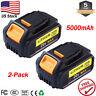 2X DCB205 For DEWALT DCB205-2 20V MAX XR 5.0 Ah Li-Ion Battery DCB206-2 DCB200-2