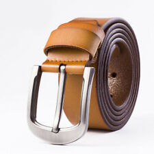 Classic Mens Leather Cowhide Belt Metal Pin Buckle Strap Waistband Waist Jewelry