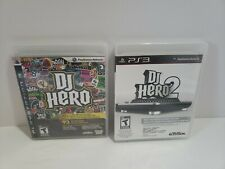 DJ Hero 1 2 PlayStation 3 PS3 Activision Complete Free Shipping Lot of 2