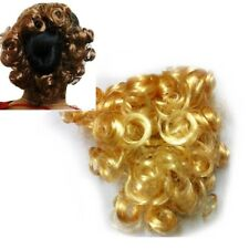 Curly Blonde Hair Piece Imitation Scrunchie Bun Extension Blonde Synthetic Fake