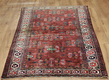 OLD WOOL HAND MADE ORIENTAL FLORAL RUNNER AREA RUG CARPET 163x120CM