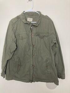 Cabela's Legendary Quality Women's 2XL Olive Green Full Zip & Button Jacket